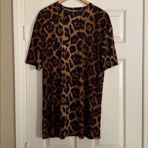 ASOS NWOT Leopard T-Shirt Dress